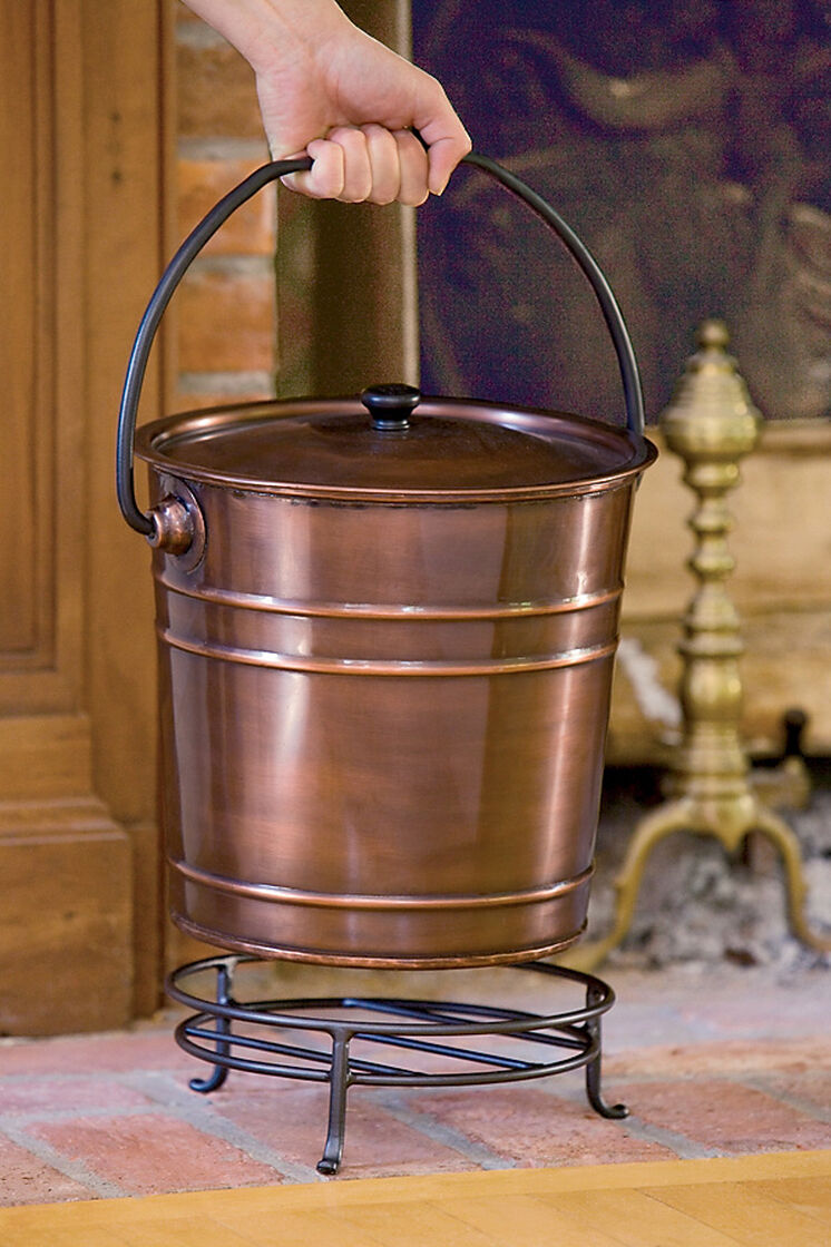 Fireplace Ash Bucket With Lid And Stand Gardeners Com