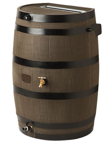Flat-Back Rain Barrel, Oak