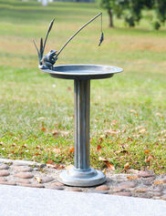 Fishing Frog Bird Bath and Sun Dial