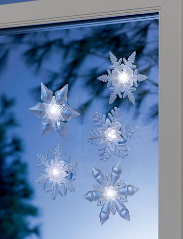 Frosted LED Snowflakes