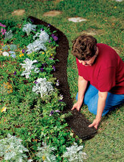 Recycled Rubber Mulch Edge Border