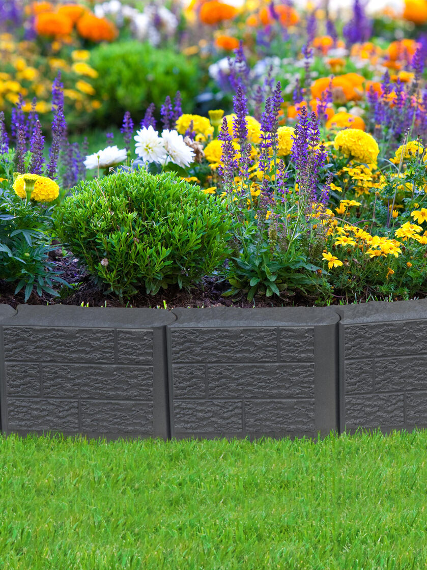 Landscape Borders Plants : Stomp block edging for landscape lawn garden gardeners