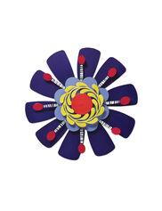 "Purple Flower Studio M Kaleidoscope Spinner, 13"""
