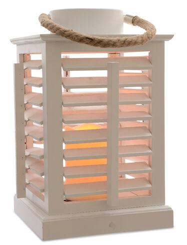 LED Wooden Shutter Lantern
