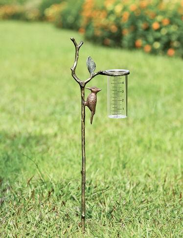 Woodpecker Wide-Mouth Rain Gauge