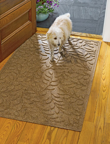 "Laurel Leaf Water Glutton Door Mat, 36"" x 59"""