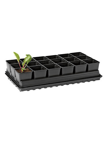 "3-1/2"" Square Self-Watering Transplant Pots, Set of 18"