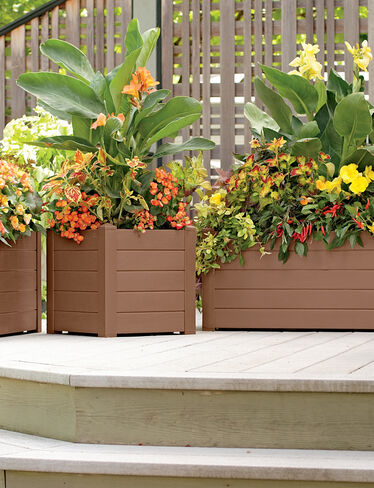 Terrazza Trough Planter, Bronze