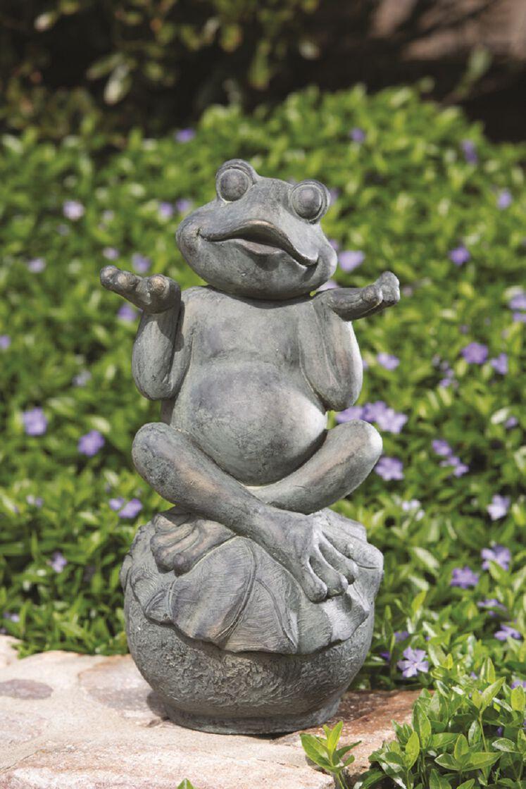 Yard Art Zen Frog Statue Gardeners Supply