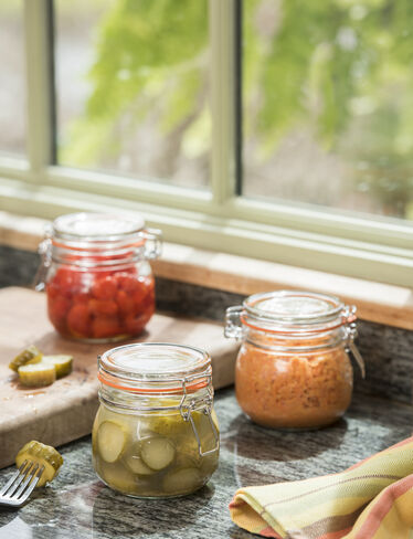 Round Clip-Top Preserve Jars, 17 oz., Set of 3