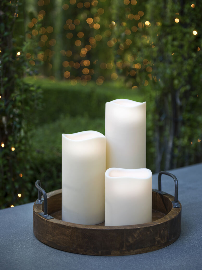 Led Candles Flamless Led Candles With Timer Outdoor