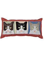 Cats Throw Pillow, Lumbar