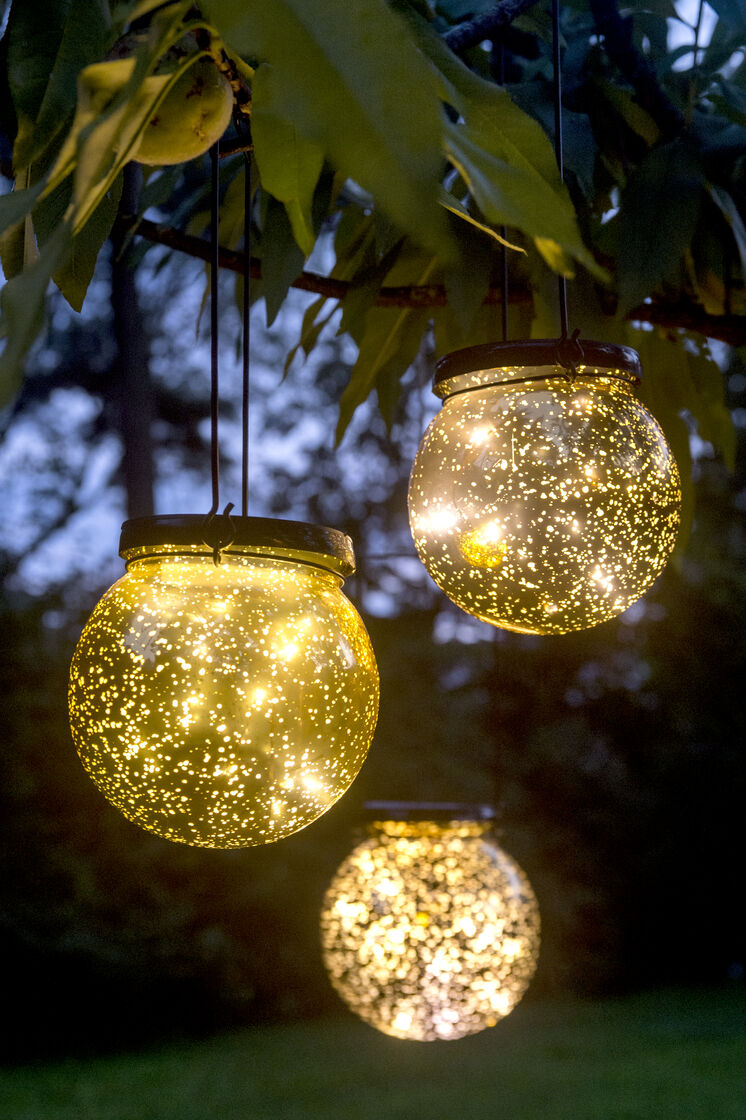 Solar Globe Lights Fairy Dust Ball Gardeners Com