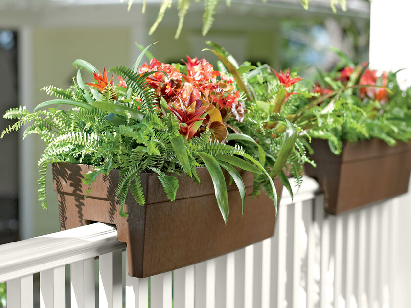 Deck railing planter for 2x4 or 2x6 railings - Deck rail planters lowes ...