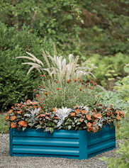 "Demeter Corrugated Metal Raised Bed, 34"" x 34"""