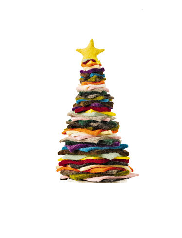 "12"" Felted Wool Christmas Tree"
