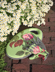 Rose Print Garden Glove and Kneeling Pad Set