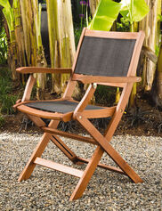 Sea Breeze Folding Armchairs, Set of 2