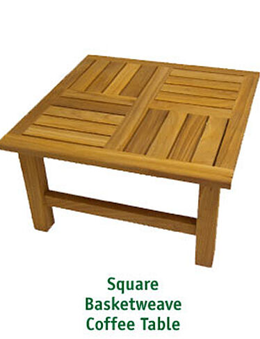 Basketweave Teak Coffee Tables