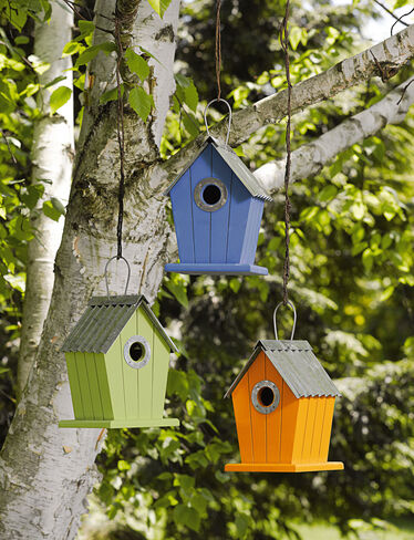 Cottage Birdhouses, Set of 3