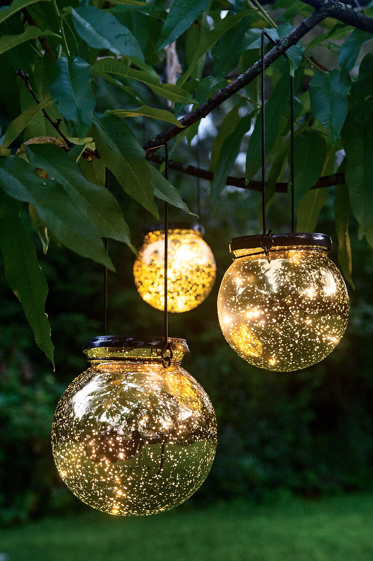Solar globe lights fairy dust ball - Decorative garden lights ...