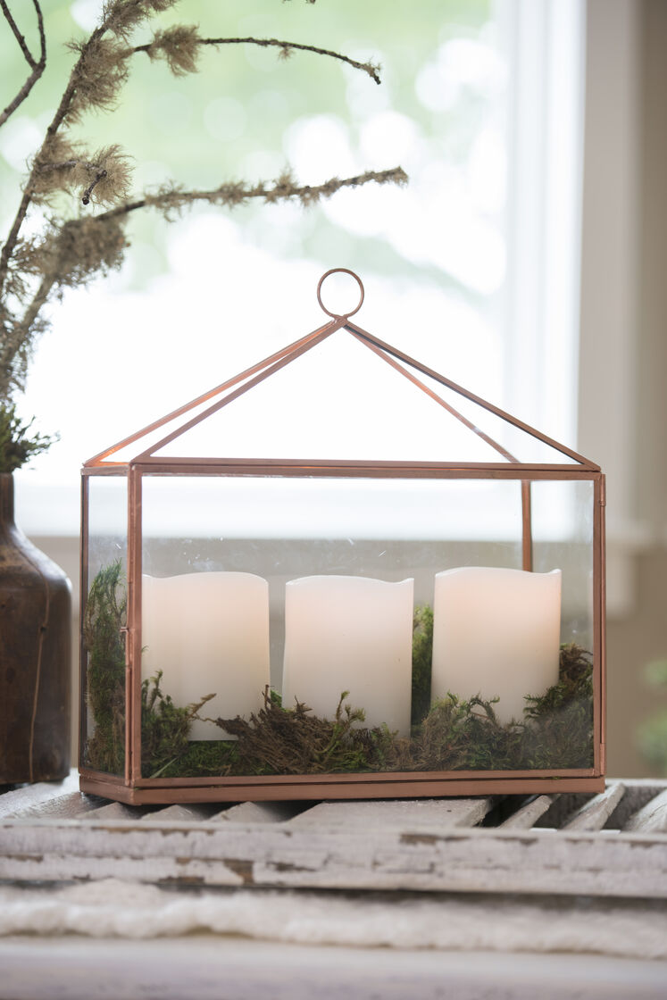 Derby Glass Candle Display Case