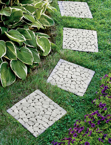 River Stone Pavers, Set of 4