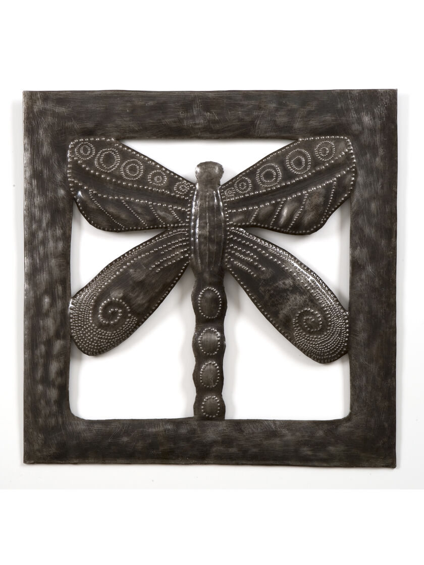 Outdoor Wall Decor Dragonfly : D wall art metal dragonfly outdoor