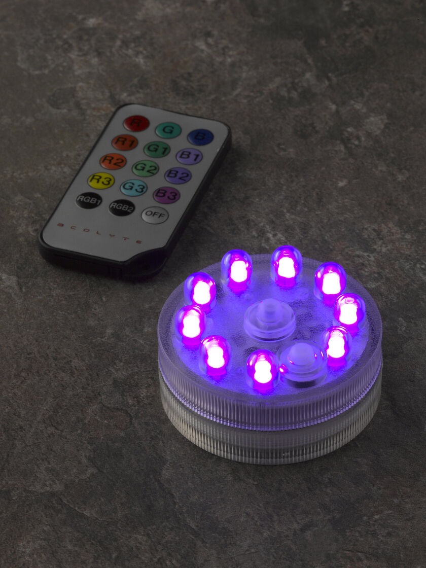 submersible colorful led light buy from gardener 39 s supply. Black Bedroom Furniture Sets. Home Design Ideas