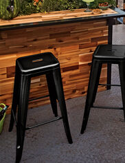 Retro Metal Stools, Set of 2