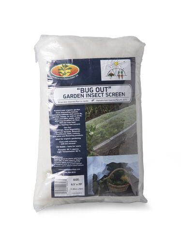 Bug Out Garden Insect Screen, 6-1/2' x 20'