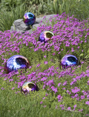 Gazing Balls Blue & Purple, Set of 5