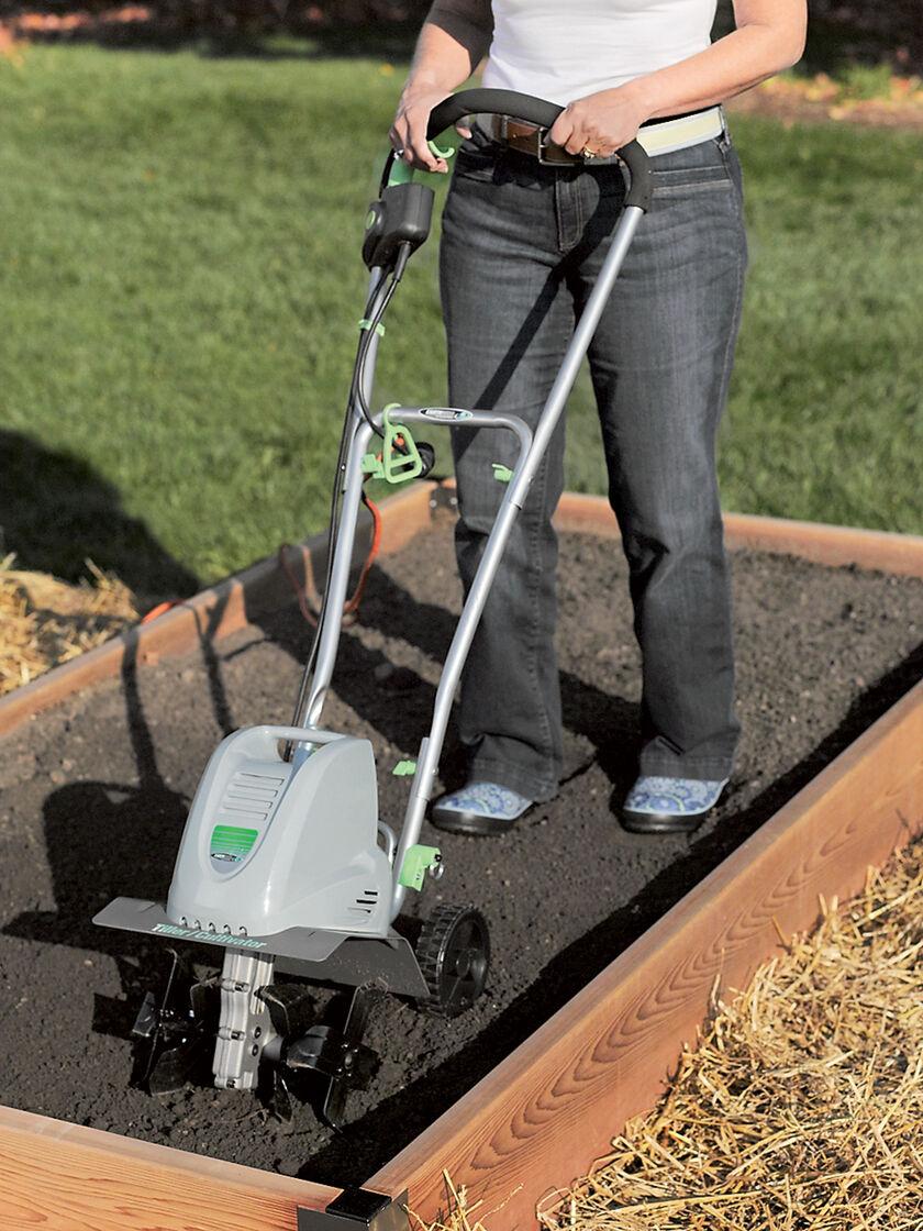 Electric Tiller by Earthwise Small Garden Tiller Gardenerscom