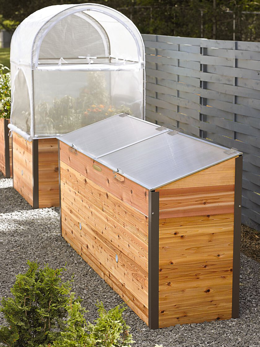 grow house greenhouse elevated raised bed with cold frame greenhouse planter us made