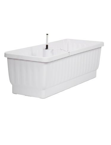"23"" Self-Watering Windowbox, White"