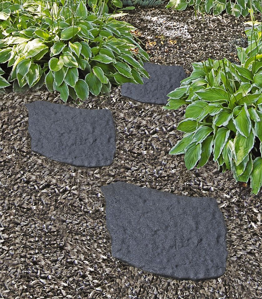 Granite Stepping Stones : Recycled rubber flagstone stepping stone gardeners
