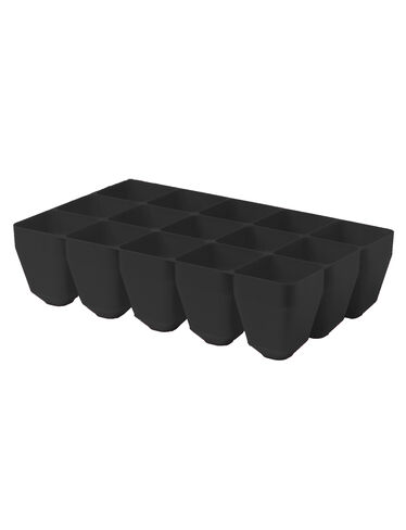 *15-Cell Tray, Black