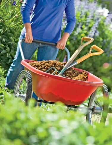 Poly-Tough Garden Cart (Red or Black)