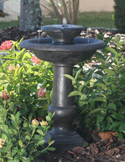 Two-Tier On-Demand Solar Fountain