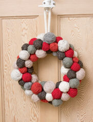 Knitters' Circle Yarn Ball Wreath