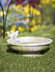 Petite Bird Bath with Finches