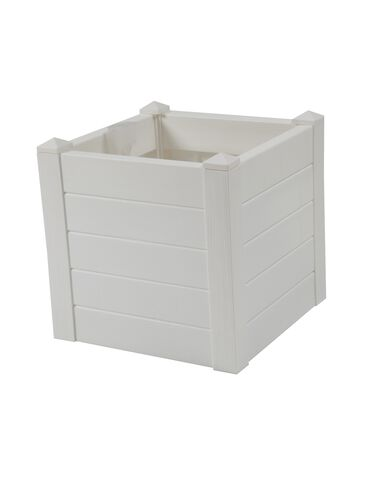 Terrazza Square Planter, White