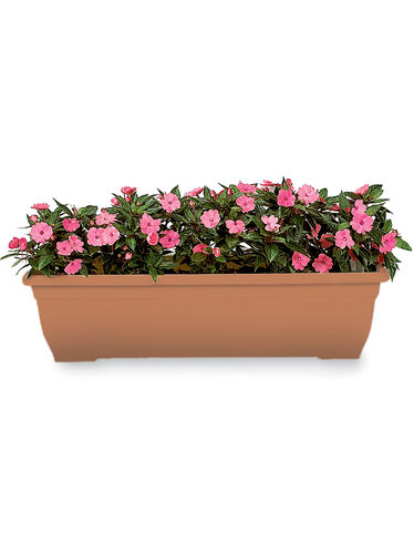 "31"" Self-Watering Trough Planter"