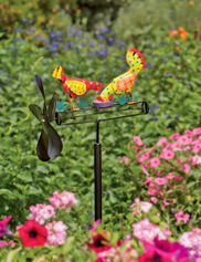 Calico Chicken Whirligig