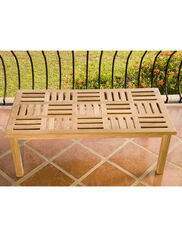 Basketweave Teak Coffee Table