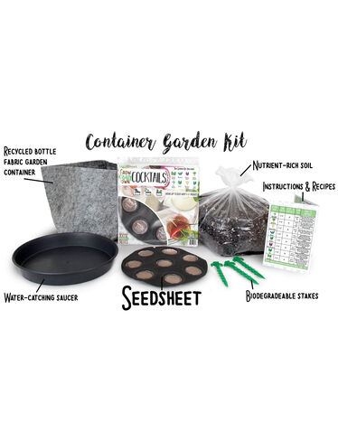 Grow Your Own Cocktails Container Garden Kit