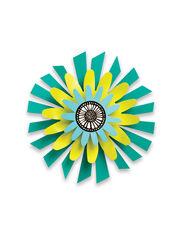 """Teal Flower Studio M Kaleidoscope Spinner, 13"""""""