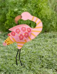 Calico Standing Flamingo Stake