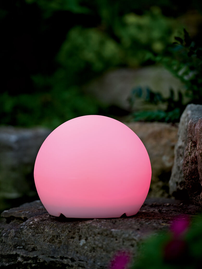 Solar Garden Decor Color Changing Solar Sphere Gardenerscom