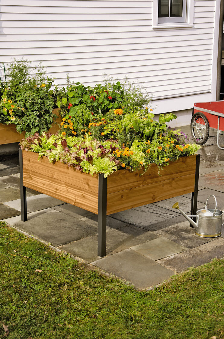 4 39 x 4 39 elevated cedar planter box vermont made. Black Bedroom Furniture Sets. Home Design Ideas